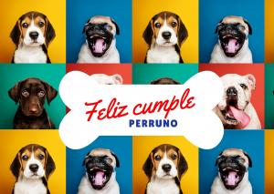 Tarjeta de cumpleaños perros