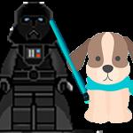 Disfraces perro y dueño de película